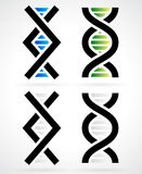 DNA strand, helix. Vector symbols Stock Photo