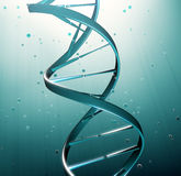 DNA strand illustration. Genetic research Royalty Free Stock Photo