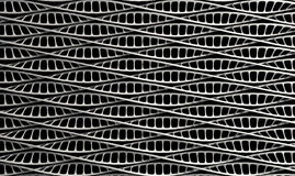 DNA Strand Micro. A microscopic view of asequenced pattern of DNA styled strands in a generic white color on an isolated background royalty free stock photos