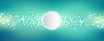 DNA strand and molecular structure. Genetic engineering or laboratory research. Background texture for medical or. Scientific and technological design. Vector vector illustration