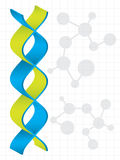 DNA strand with special design Royalty Free Stock Photos