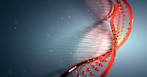 Dna strand structure seamless loopable animation 4k UHD stock illustration