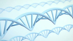 DNA strands animation for medicinal and science presentations stock footage