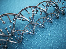DNA strands background Stock Photography