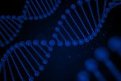 DNA-Strang auf schwarzem Hintergrund Lizenzfreie Stockfotografie