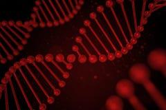 DNA-Strang auf schwarzem Hintergrund Lizenzfreies Stockbild