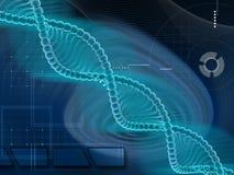 DNA structure. Digital illustration DNA structure in colour background stock illustration