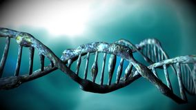 DNA structure stock footage