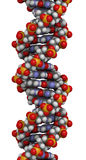 DNA structure, B-DNA form. Stock Photos