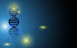 Dna structure background Stock Photos