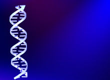 DNA structure on blue ckground Stock Photos