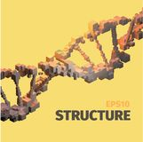 DNA structure. 3d  abstract background. Cube elements. Boxes system Stock Images