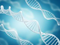 DNA structure. Deoxyribonucleic acid structure (DNA) on blue background Stock Image