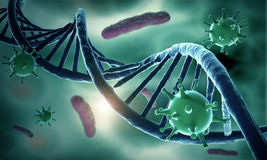 DNA structure and HIV Royalty Free Stock Photo
