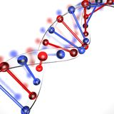 DNA Structure Made Of Glass Royalty Free Stock Photography