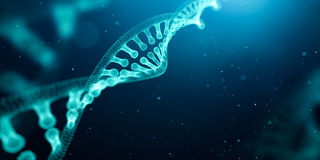 DNA structure over abstract background. 3D Rendering royalty free illustration