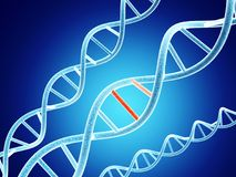 DNA structure with problem element Royalty Free Stock Images
