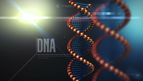 DNA structure rotating background stock video footage