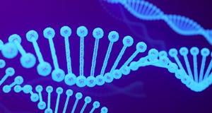DNA structureert dicht omhoog Medische Achtergrond het 3d teruggeven Royalty-vrije Stock Afbeelding