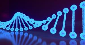 DNA structureert dicht omhoog Medische Achtergrond het 3d teruggeven Stock Fotografie