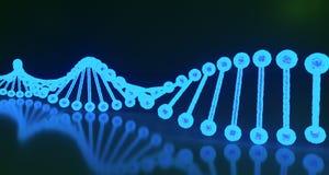 DNA structureert dicht omhoog Medische Achtergrond het 3d teruggeven Royalty-vrije Stock Afbeeldingen