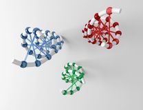 DNA structures. A set of three DNA structures Royalty Free Stock Images