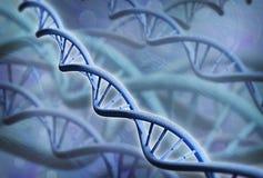 DNA-structuur - 3D teruggegeven beeld Stock Foto's