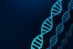 DNA-Struktur, blauer abstrakter Hintergrund Lizenzfreies Stockfoto