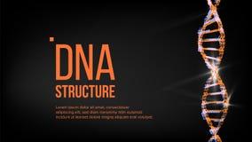 Dna-strukturvektor Digital cell Evolutionsymbol illustration vektor illustrationer