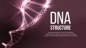 Dna-strukturvektor Digital cell Sund kromosom Evolutionsymbol illustration vektor illustrationer