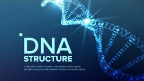 Dna-strukturvektor Futuristisk kod Bioteknikbegrepp Biokemireklamblad illustration vektor illustrationer