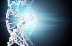 DNA sull'azzurro Fotografia Stock Libera da Diritti