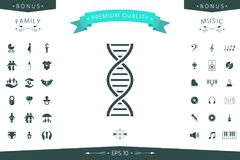 DNA symbol icon. Element for your design Royalty Free Stock Images