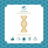 DNA symbol icon. Element for your design Stock Photography