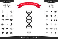 DNA symbol icon. Element for your design Royalty Free Stock Image