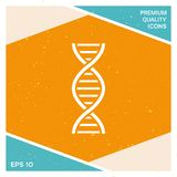 DNA symbol icon. Element for your design Royalty Free Stock Photo