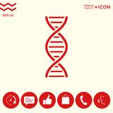 DNA symbol icon. Element for your design . Signs and symbols - graphic elements for your design Stock Photo