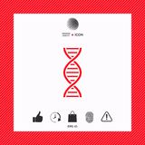 DNA symbol icon. Element for your design . Signs and symbols - graphic elements for your design Royalty Free Stock Photo