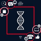 DNA symbol icon. Element for your design . Signs and symbols - graphic elements for your design Royalty Free Stock Images