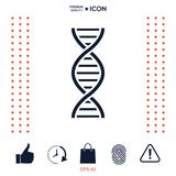 DNA symbol icon. Element for your design . Signs and symbols - graphic elements for your design Royalty Free Stock Photography