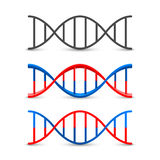 DNA symbol set art stock illustration