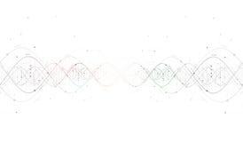 DNA:t gör sammandrag futuristisk teknologiinterfa Royaltyfria Foton