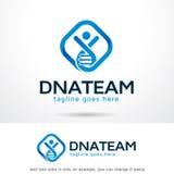 DNA Team Logo Template Design Vector Royaltyfria Foton