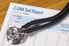 DNA Test Report Royalty Free Stock Image