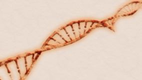 DNA is a thread-like chain of nucleotides carrying the genetic instructions used in the growth, development, functioning a. DNA, Deoxyribonucleic acid is a vector illustration