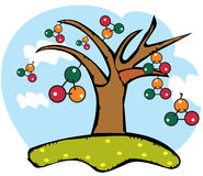 Dna tree Royalty Free Stock Images