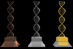Dna trophies (3D) Royalty Free Stock Images
