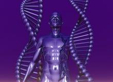 DNA umano Fotografie Stock Libere da Diritti