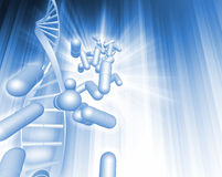 DNA und Kapseln stock abbildung