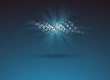 DNA und medizinischer und Technologiehintergrund futuristisches Molekül lizenzfreie stockfotos